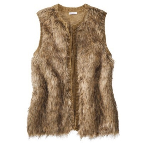 Xhilaration Jackets & Blazers - Oversized fur vest